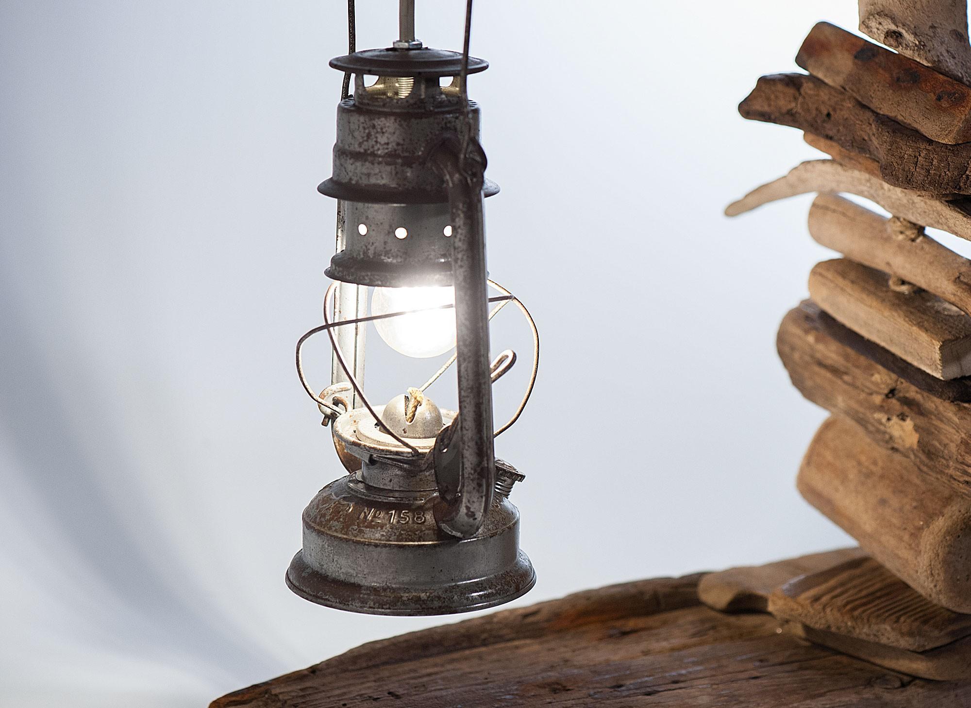 Il pescatore - Lampada artigianale